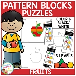Pattern Block Puzzles: Food - Fruits ~Digital Download~